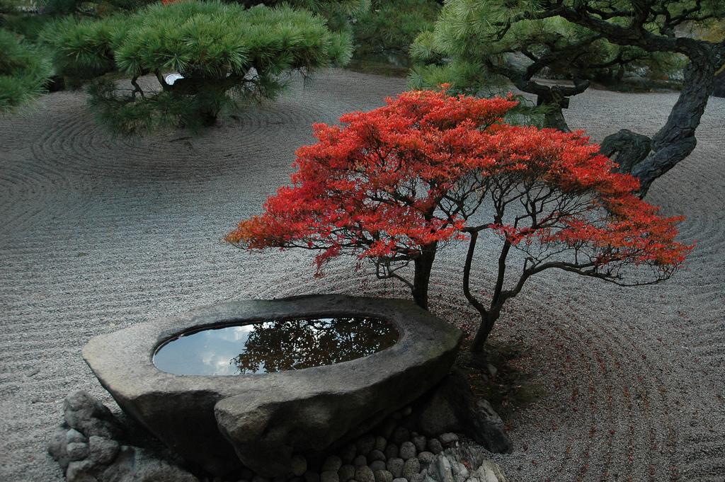 Stone basin - Ritsurin Park