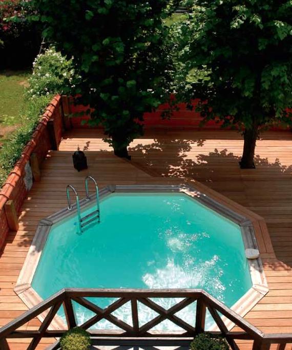 terrasse bois hexagonale. Black Bedroom Furniture Sets. Home Design Ideas