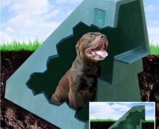Une niche pour chien sous terre