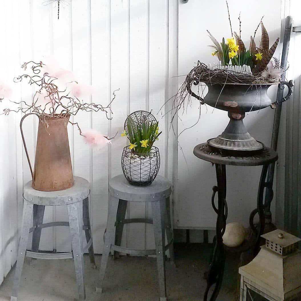 jardin décoration pots